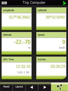 Trippmätare i GPS Tuner 6
