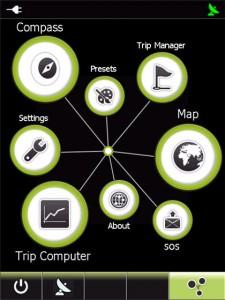 Huvudmenyn i GPS Tuner 6 är snygg och trevlig