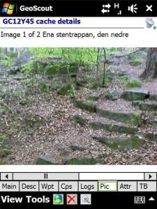 Spopilerbild. lätthanterligt i Geoscout