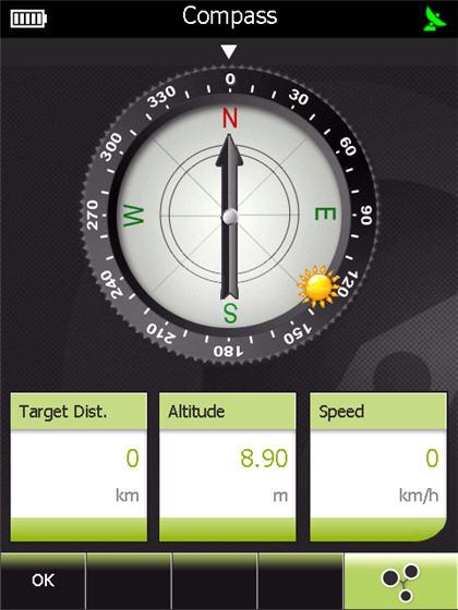 Snygg kompass i GPS Tuner Atlas