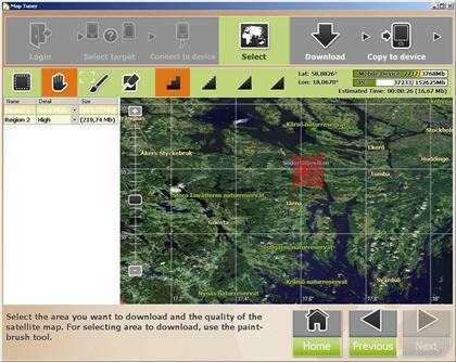 Förbered satellitbilder till mobilen