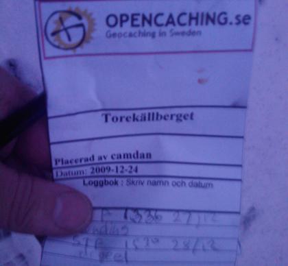 OS000C Torekällberget - Kvarnen. STF efter Sundins