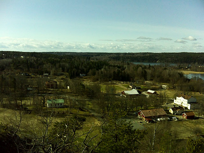 Utsikt över Viksberg från toppen av Korpberget